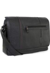Bolsa Bennemann Carteiro Em Couro Laptop 15.6 London 0127 Preto