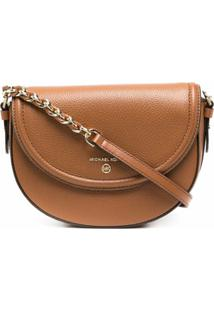 Michael Kors Collection Bolsa Transversal Com Placa De Logo - Marrom