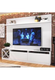 Rack Com Painel Para Tv Até 60 Polegadas 2 Portas 2023 Bac Branco - Quiditá Móveis