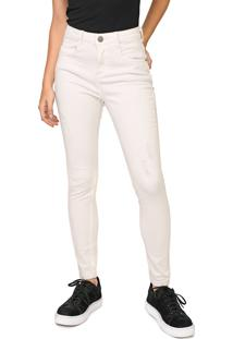 Calça Sarja Aeropostale Skinny Lisa Off-White