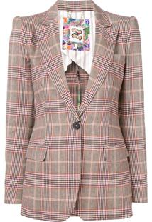 Tommy Hilfiger Check Jacket - Marrom