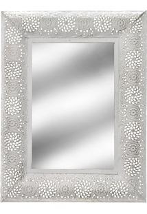 Espelho Emoldurado- Espelhado & Branco- 42,5X32X2,5Cmabruk