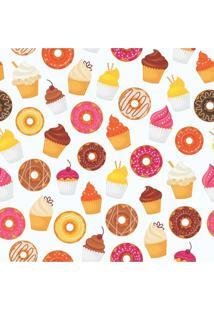 Papel De Parede Adesivo Donut E Cupcake (0,58M X 2,50M)