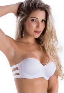 898a4e64d Sutiã Branco Elastico feminino