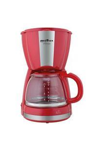 Cafeteira Britânia Cp30 Inox 30 Cafezinhos Vermelha