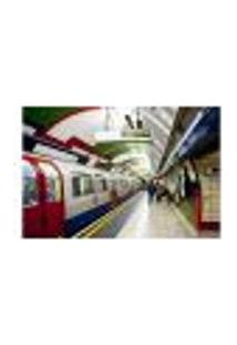 Painel Adesivo De Parede - Londres - Metrô - 961Png