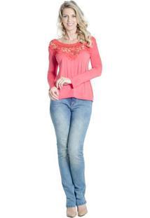 Blusa Crochet Alessandra Aleixo