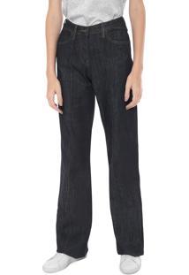 ... Calça Jeans Lacoste Pantalona Pespontos Azul-Marinho 19547c530a