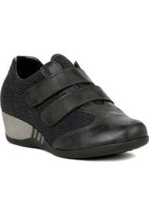 Sapato Anabela Feminino Preto