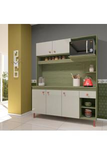 Cozinha Compacta Sevilha 5 Pt 1 Gv Castanho E Off White