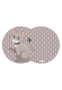 Tapete Pet Gato Cinza 55X35Cm