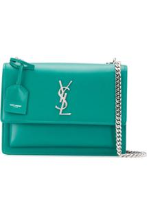 Saint Laurent Bolsa Tiracolo Sunset - Verde