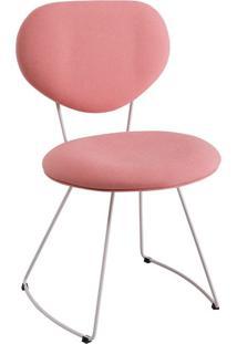 Cadeira Milão Meia Lua Linho Coral