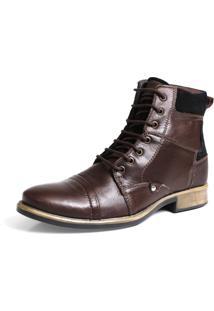 Bota Tchwm Shoes Coturno Masculina Cano Alto Couro