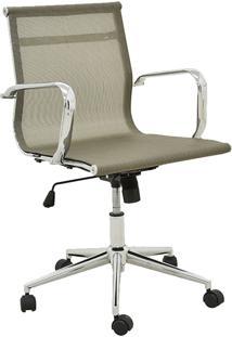 Cadeira Office Sevilha Baixa Tela Dourado Rivatti Móveis