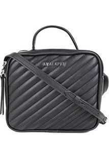 Bolsa Anacapri Mini Bag Matelassê Feminina - Feminino-Preto