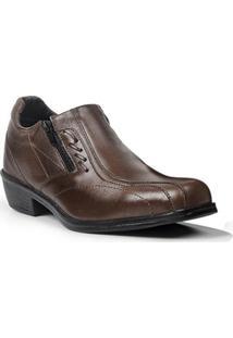 Sapato Loafer Masculino Em Couro Polo State Volk Marrom