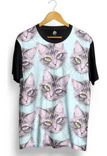 Camiseta Bsc Many Cats Full Print - Masculino