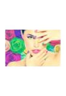 Painel Adesivo De Parede - Salão De Beleza - Manicure - 867Pnm