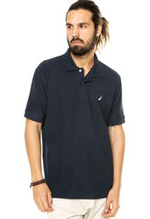 Camisa Polo Nautica Reta Azul