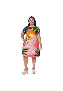 Vestido Plus Size Sofia Rosa