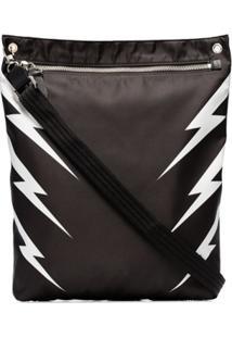 Neil Barrett Tiger Bolt Zip Bag - Preto