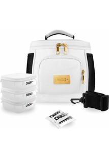 Bolsa Térmica Fitness Premium Couro - Unissex-Branco