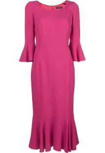 Dolce & Gabbana Vestido Midi - Rosa