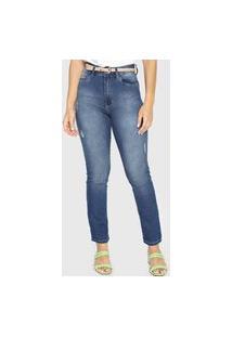 Calça Jeans Lez A Lez Reta Tulum Azul