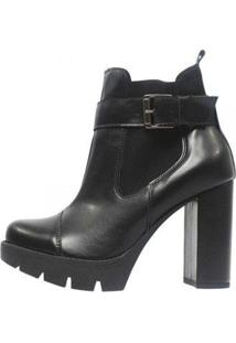 Bota Damannu Shoes Megan Napa Feminina - Feminino-Preto