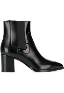 Santoni Pointed Toe Ankle Boots - Preto