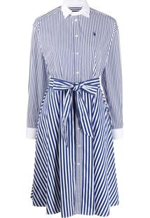 Polo Ralph Lauren Belted Shirt Dress - Azul