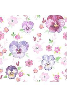 Papel De Parede Adesivo Flores Delicadas