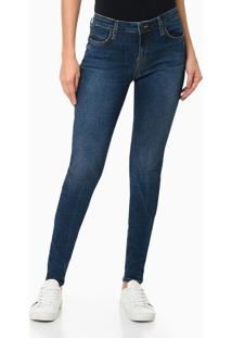 Calça Jeans Five Pockets Super Skinny - Azul Marinho - 36