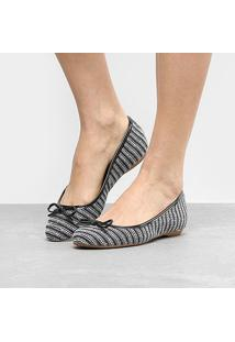 8caa2add2 Sapatilha Shoestock Bico Redondo Laço Feminina - Feminino