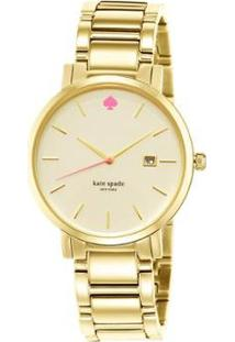 Relógio Kate Spade Gramercy Grand 1Yru0009/I Feminino - Feminino-Dourado