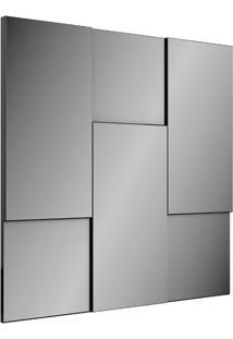Painel Decorativo Tb96 Espelhado 0,90M Preto Brilho