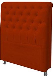 Cabeceira Para Cama Box Solteiro 90 Cm Paris Suede Vermelho - Js Móveis