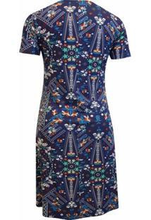 Vestido Pau A Pique - Feminino-Azul Escuro