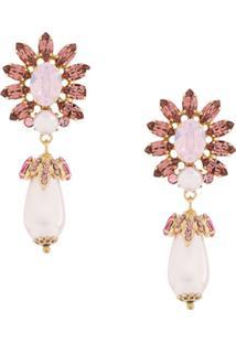 Dolce & Gabbana Par De Brincos Com Brilho - Rosa