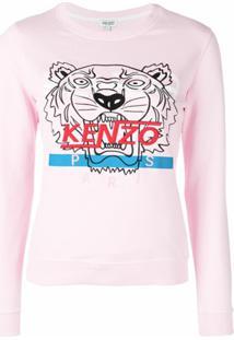 Kenzo Blusa De Moletom 'Hyper Kenzo' - Rosa