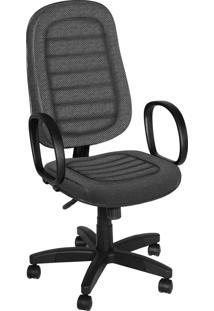 Cadeira Presidente Base Giratã³Ria C/ Bra Cinza - Cinza - Dafiti