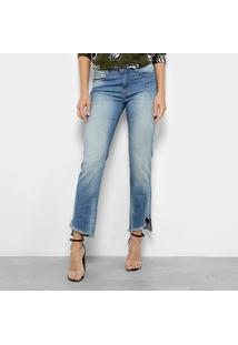 b6d21405bf Ir para a loja  Calça Jeans Reta Forum Marisa Cintura Média Feminina -  Feminino-Azul