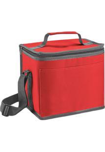 Bolsa Térmica Com Alça- Vermelha & Cinza- 24X22X17Cmgîte