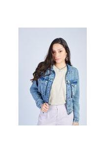 Jaqueta Jeans Blue Médio Gang Feminina