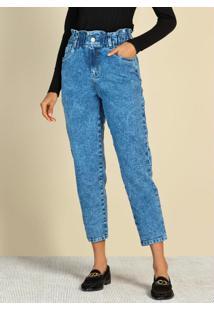 Calça Slouchy Em Jeans Jeans Médio