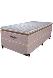 Cama Box Solteiro American No-Turn Extra Firme - Pelmex - Bege / Marrom / Marfim