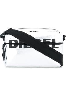 Diesel Bolsa Transversal Com Estampa De Logo - Metálico