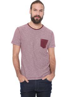 Camiseta Aramis Listrado Vinho/Branca