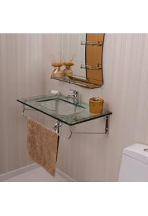 Gabinete Para Banheiro De Vidro Hercules Astra Gp-H Transparente